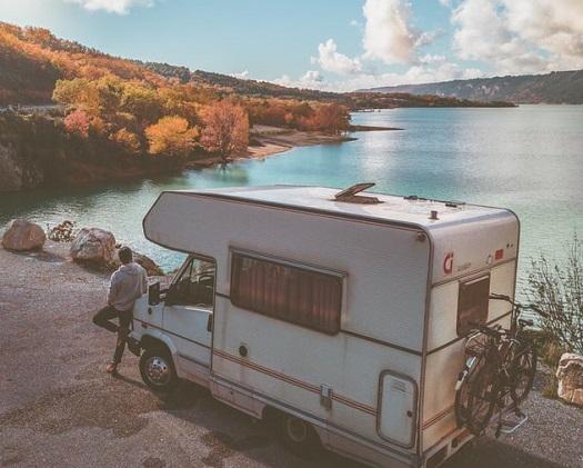 Camping car et horizon
