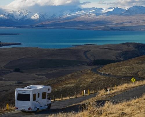 Camping car de voyage