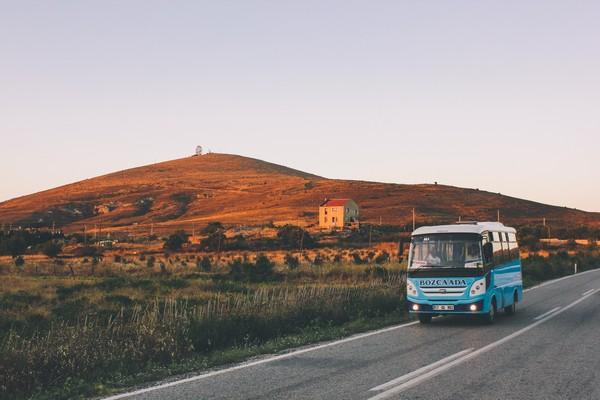 Paysage et bus