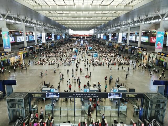 Aéroport très fréquenté