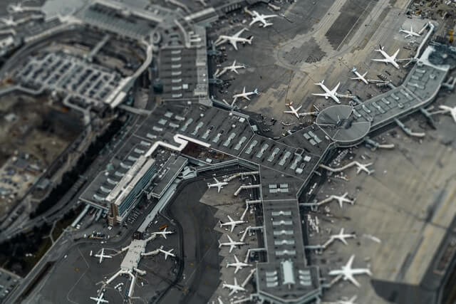 Aéroport vu du ciel