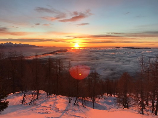 coucher de soleil slovenie