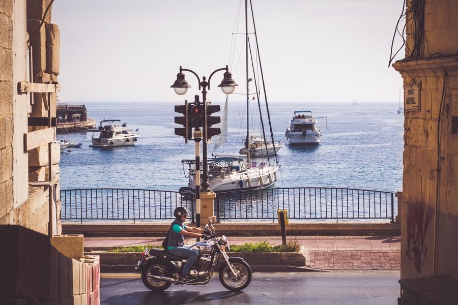 Moto à Malte
