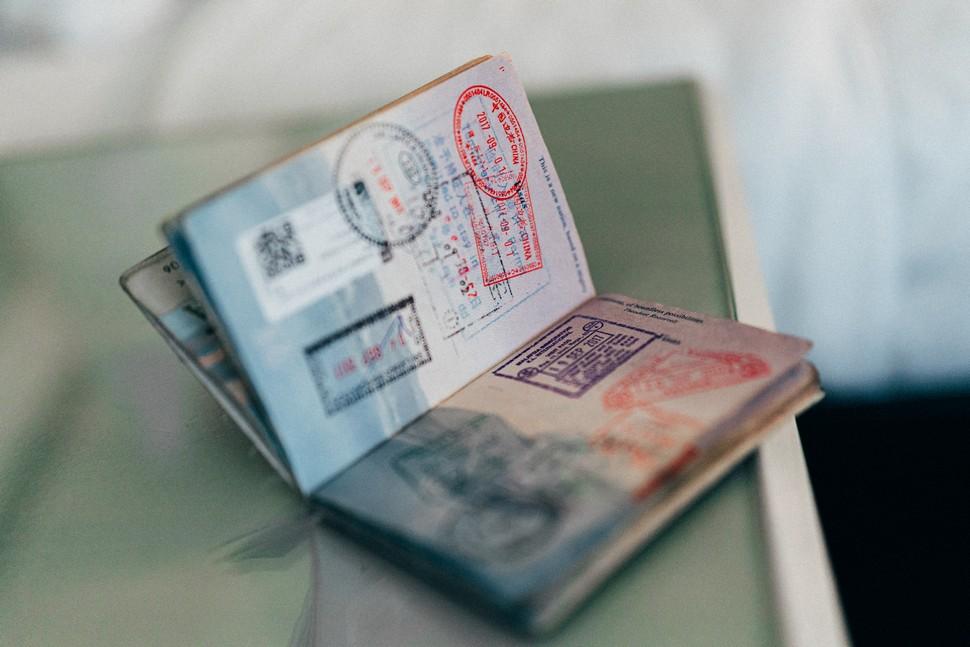 passeport ouvert et rempli